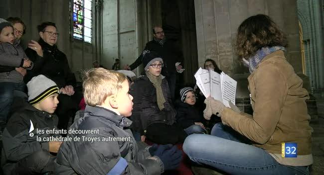 Canal 32 - Les enfants découvrent la cathédrale de Troyes autrement