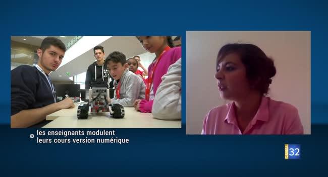 Canal 32 - Covid-19 et études supérieures : les enseignants modulent leurs cours en version numérique