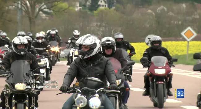 Canal 32 - Les motards toujours mobilisés contre les 80 km/h