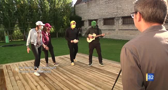 Canal 32 - Les Nuits de Champagne livrent des chansons à domicile !
