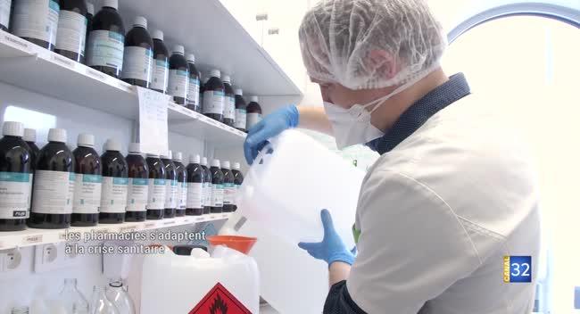 Canal 32 - La Rivière-de-Corps : les pharmaciens s'adaptent à la crise sanitaire
