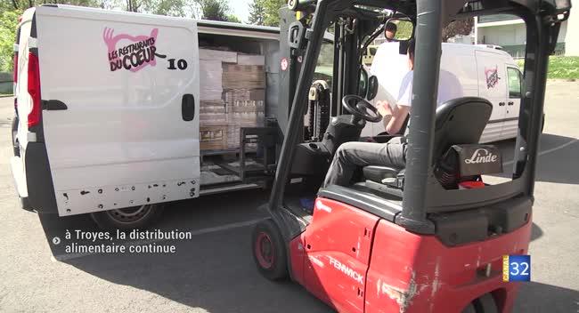Canal 32 - Les Restos du coeur : la distribution alimentaire continue