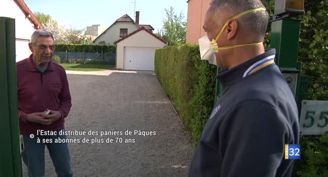 Canal 32 - L'Estac distribue des paniers de Pâques à ses abonnés de plus de 70 ans