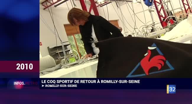 Canal 32 - L'info rétro, il y a 10 ans - le coq sportif revient à Romilly et Amélie Nothom en visite à Troyes