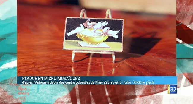 Canal 32 - L'objet d'une histoire - plaque en micro mosaïque