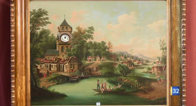 Canal 32 - L'objet d'une histoire - un tableau horloge