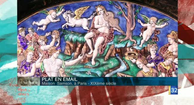 Canal 32 - L'objet d'une histoire - Plat en émail de la maison Samson