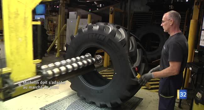 Canal 32 - La Chapelle Saint-Luc : Michelin doit s'adapter au marché du pneu agricole