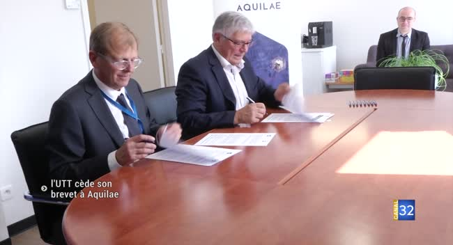 Canal 32 - L'UTT cède un brevet innovant à Aquilaé