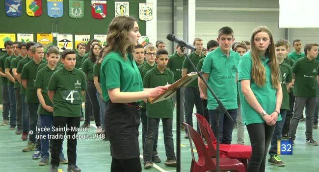 Canal 32 - Baptême de promotion au Lycée Sainte-Maure : une cérémonie traditionnelle depuis 1948