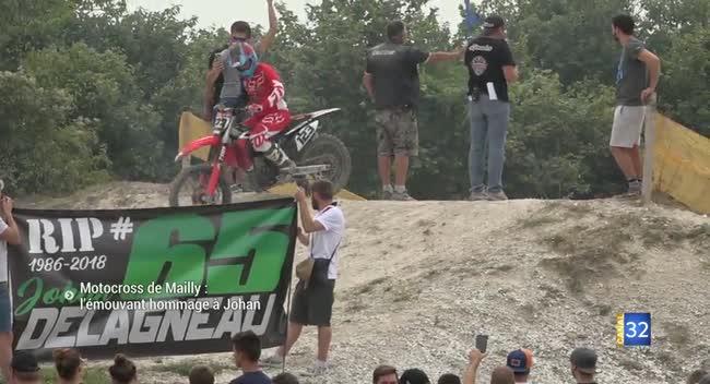 Canal 32 - Mailly-le-Camp : l'émouvant hommage du motocross à Johan Delagneau