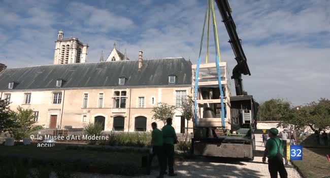 Canal 32 - Troyes : des sculptures contemporaines pour le jardin du Musée d'Art Moderne