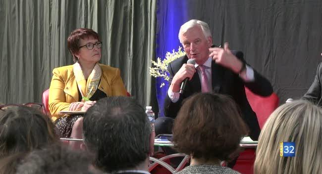 Canal 32 - Michel Barnier, négociateur en chef de l'Union Européenne pour le Brexit, dans l'Aube