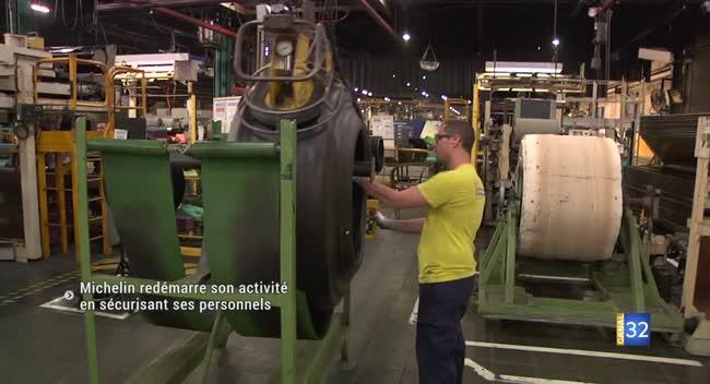 Canal 32 - Michelin relance sa production en adaptant ses règles de sécurité au Covid-19
