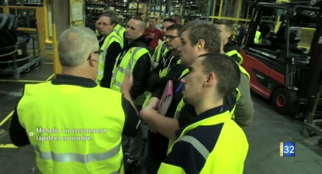 Canal 32 - Michelin : un recrutement rapide et massif à la Chapelle Saint-Luc