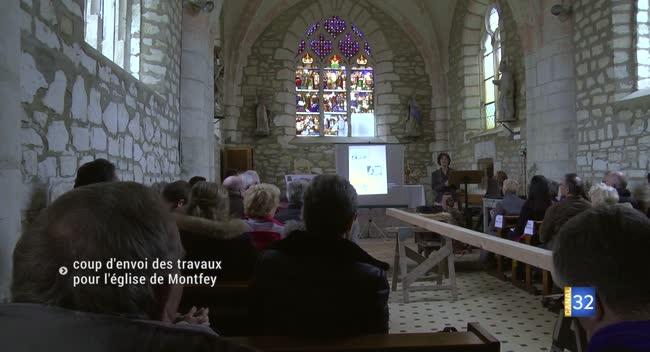 Canal 32 - Montfey : coup d'envoi officiel des travaux pour l'église