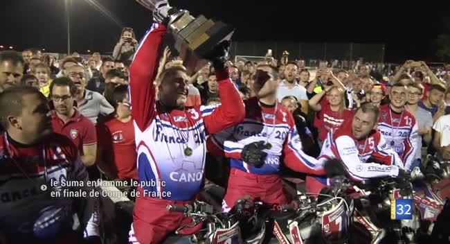 Canal 32 - Motoball : folle ambiance suite au titre de Coupe de France du Suma