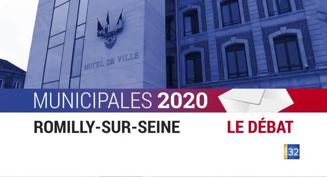 Canal 32 - Municipales 2020 : débat entre les candidats de Romilly/Seine