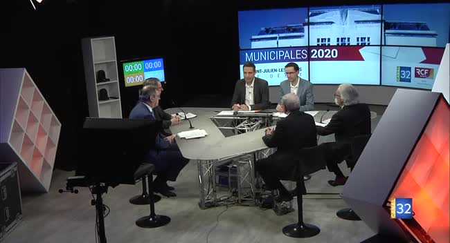 Canal 32 - Municipales 2020 - St Julien les villas : le débat entre les candidats