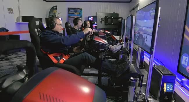 Canal 32 - Saint-Lyé : des courses entre copains sur simulateurs