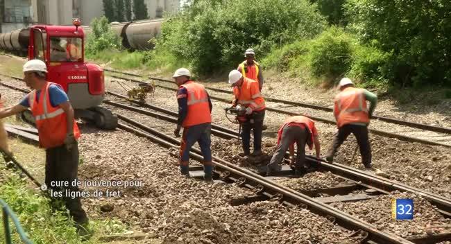Canal 32 - Troyes - Polisot : cure de jouvence pour les voies ferrées dédiées au fret