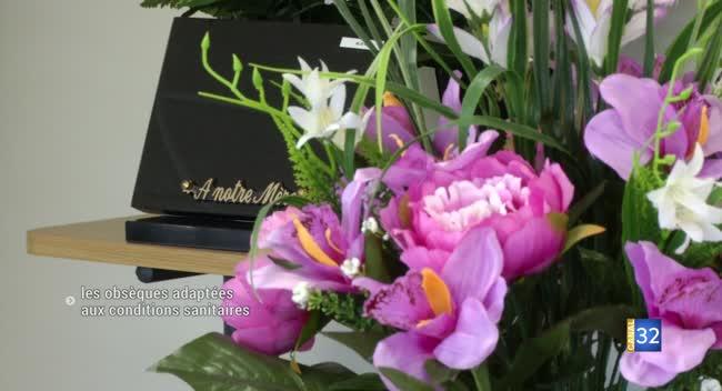 Canal 32 - Pompes funèbres : des obsèques adaptées aux conditions sanitaires