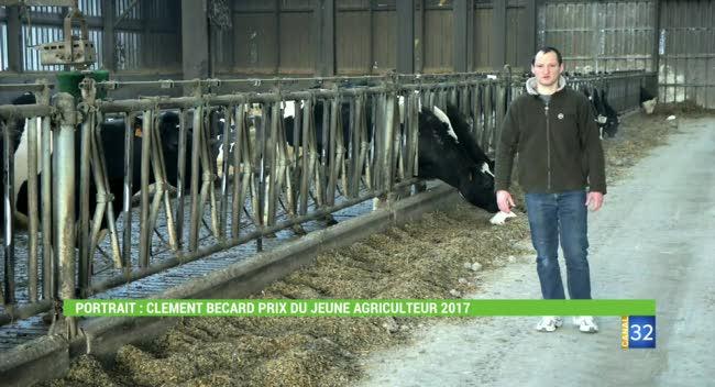 Canal 32 - Terres et Vignes : le portrait de Clément Becard, prix du jeune agriculteur 2017