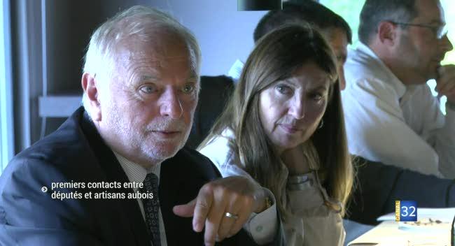 Canal 32 - Premières prises de contacts entre député et artisans aubois