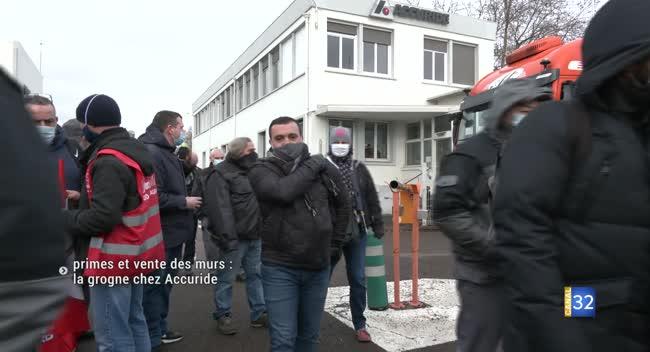 Canal 32 - Primes et vente des murs : la grogne chez Accuride à La Chapelle Saint-Luc