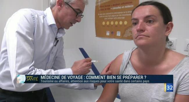 Canal 32 - Question santé - médecine et voyage : comment bien se préparer ?
