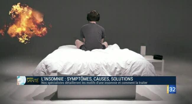 Canal 32 - Question santé - l'insomnie, symptômes, causes, solutions