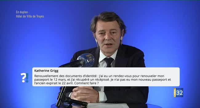 Canal 32 - Questions Réponses avec François Baroin - les services de proximité, comment faire pour obtenir mon nouveau passeport ?
