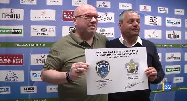 Canal 32 - RCSA-Estac : un partenariat entre les deux clubs
