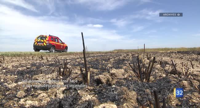 Canal 32 - Les sapeurs-pompiers aubois face aux incendies estivaux