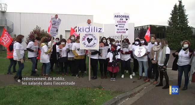 Canal 32 - Redressement du groupe Kidiliz : les salariés dans l'incertitude