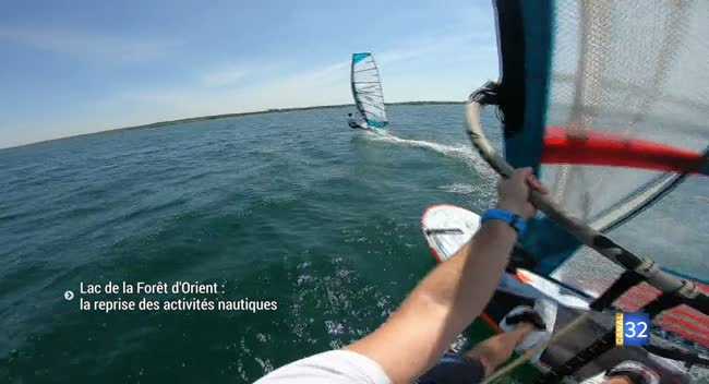 Canal 32 - La reprise des activités nautiques au lac de la forêt d'Orient