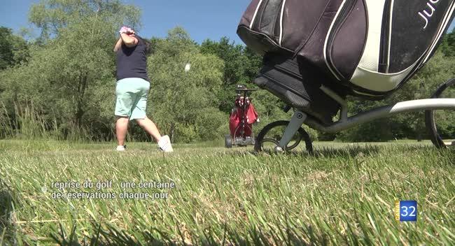 Canal 32 - Reprise du golf: des aménagements pour respecter les règles sanitaires