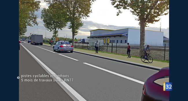 Canal 32 - RN 77 : d'importants travaux à compter du 3 septembre en entrée d'agglomération