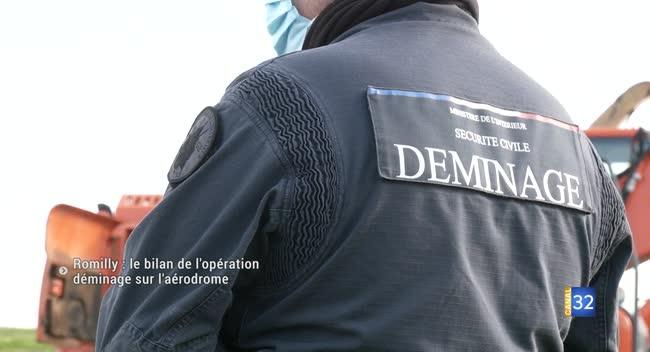Canal 32 - Romilly : le bilan de l'opération déminage sur l'aérodrome