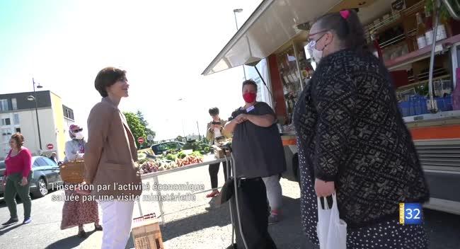 Canal 32 - Romilly-sur-Seine : l'insertion par l'activité économique saluée par une visite ministérielle