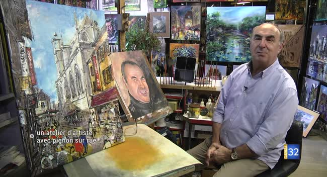 Canal 32 - Rue Turenne : un atelier d'artiste avec pignon sur rue pour Gébo