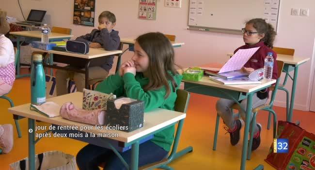 Canal 32 - Saint-Jean-de-Bonneval : après le déconfinement, 13 élèves retournent en classe