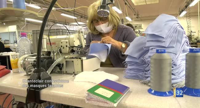 Canal 32 - Saint-Pouange : la bonneterie Chanteclair confectionne exclusivement des masques