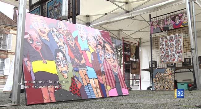 Canal 32 - Sainte-Savine : 25 artistes au marché de la création ce dimanche