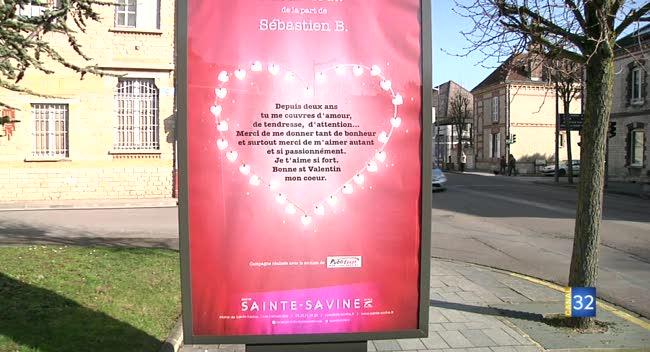 Canal 32 - Sainte-Savine : quand les amoureux s'affichent pour la Saint-Valentin !
