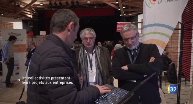 Canal 32 - Un salon à l'envers : les collectivités présentent leurs projets aux entreprises