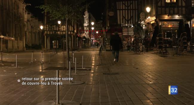 Canal 32 - Samedi, 21h : première soirée de couvre-feu à Troyes