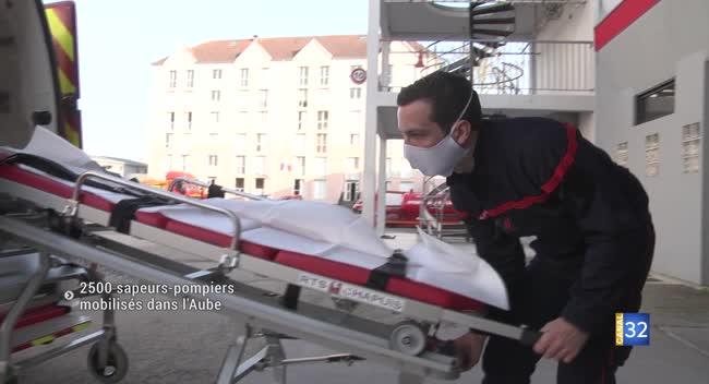 Canal 32 - Sapeurs-pompiers de l'Aube : le point face à l'épidémie de Covid-19