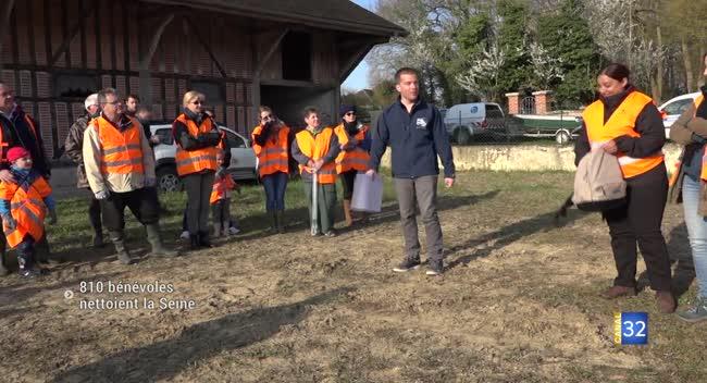 Canal 32 - L'opération Seine propre a collecté l'équivalent de 30 camions de déchets