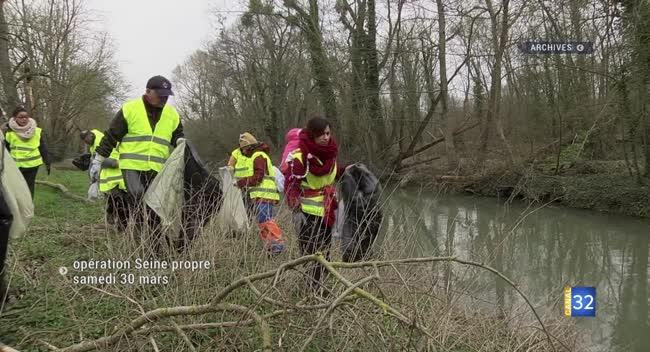 Canal 32 - Terres et Vignes : Seine Propre, un appel pour nettoyer le cours du fleuve le samedi 30 mars